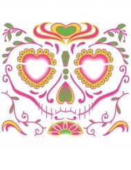 Tatuaggio temporaneo per il viso Dia de los muertos da donna