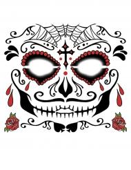 Tatuaggi temporanei per il viso Dia de los muertos da uomo