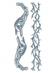 Tatuaggi temporanei catene per adulti