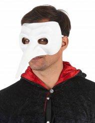 Maschera con naso lungo bianca per adulto