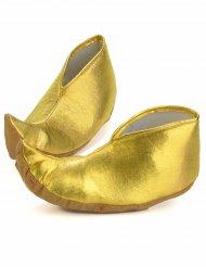 Sopra scarpe dorate da sultano per adulto