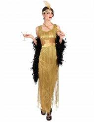 Costume charleston lungo ed oro per donna