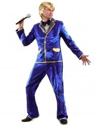 Costume disco blu per uomo