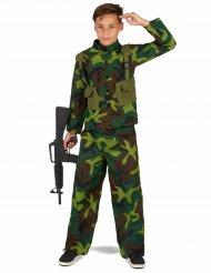 Costume uniforme militare bambino
