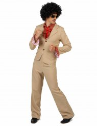 Costume beige disco per adulto