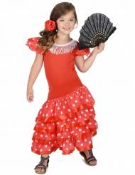 Costume ballerina di flamenco a pois bambina