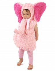 Costume rosa da elefante per bambina