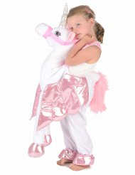 Costume a cavallo dell'unicorno per bambina