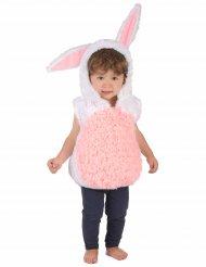 Costume da coniglio bianco e rosa per bambino