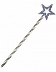 Bacchetta magica con stella blu per adulto e bambino