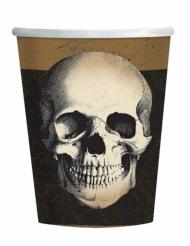 10 bicchieri in cartone teschio di Halloween