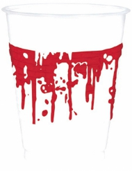 10 bicchieri di plastica insanguinati Halloween