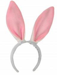 Cerchietto orecchie rosa da coniglio