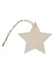 4 segnaposto stella di legno