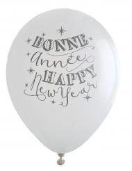 8 palloncini bonne année happy new year