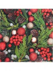 20 tovaglioli agrifoglio di Natale