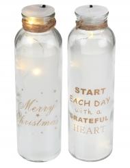 Flacone in vetro luminoso Natale