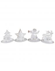 Portacandele di Natale bianco modello aleatorio