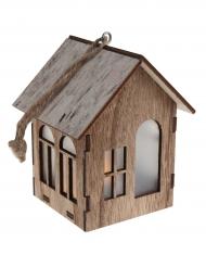 Sospensione casetta in legno luminosa