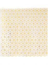 20 tovagliolini di carta motivo geometrico color oro