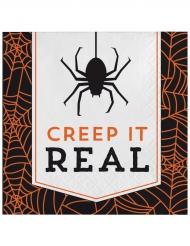 16 tovaglioli di carta Creep it real Halloween