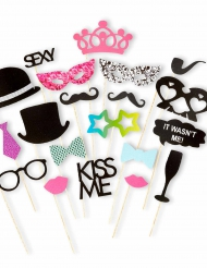 Kit photobooth 20 accessori matrimonio