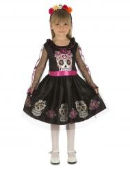 Costume mini teschio dia de los muertos per bambina