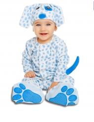 Costume da cucciolo di cane blu con ciuccio deluxe bebe