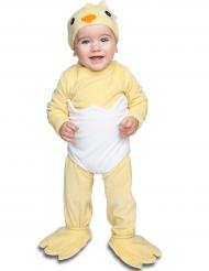 Costume da pulcino di lusso per neonato con ciuccio