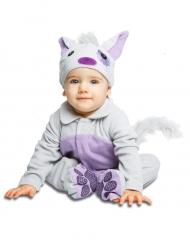 Costume da gatto con ciuccio deluxe per bebe