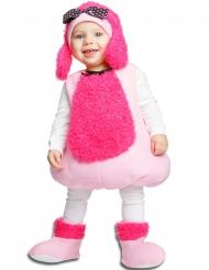 Travestimento da cagnolino rosa per neonato