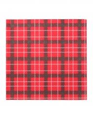 20 tovaglioli di carta a quadri rossi per Natale