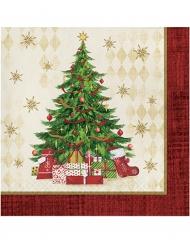 16 tovaglioli di carta albero di Natale