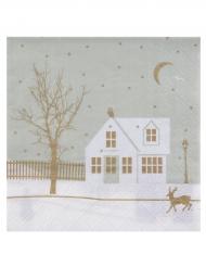 20 tovaglioli di carta villaggio natalizio