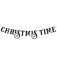 Ghirlanda Christmas Time color nero