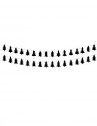 2 ghirlande di alberelli di Natale neri