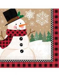 16 tovaglioli di carta pupazzo di neve