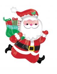 Palloncino di alluminio Babbo Natale che corre