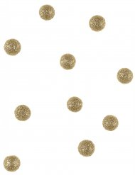 40 palline decorative oro con brillantini