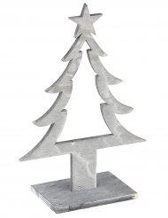 Alberello di Natale di legno grigio