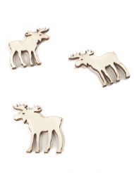 12 decorazioni da tavola renne di legno