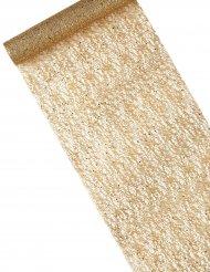 Runner da tavola metallizzato color oro