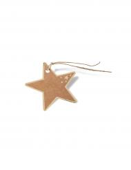 8 etichette stelle kraft e dorate