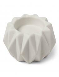 Portacandele origami in resina bianco
