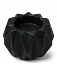 Portacandele origami in resina nero