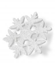 Fiocco di neve in polistirolo bianco