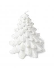 Candela albero di Natale bianca