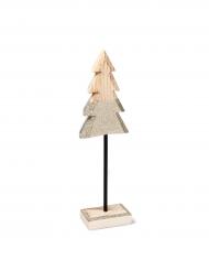 Alberello di legno su sostegno in brillantini