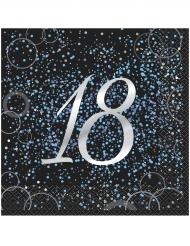 16 tovaglioli Happy Birthday 18 anni coriandoli blu