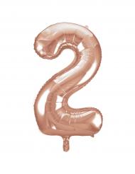 Palloncino alluminio oro rosa numero 2 - 86 cm